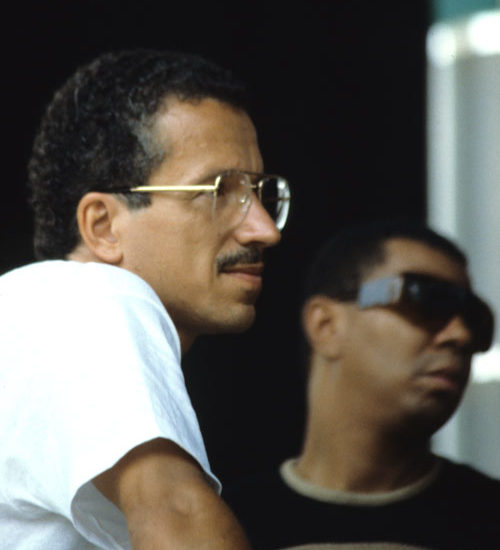 Keith Jarrett photographed in Lugano with Jack De Johnette