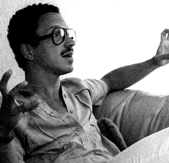 Keith Jarrett photographed in the hotel in Lugano