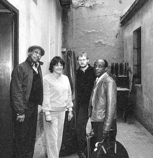 Tommy Flanagan and Lilian Terry in Milan at the Barigozzi recording studio with Jesper Lundgaard (bass) and Ed Thigpen (drum)